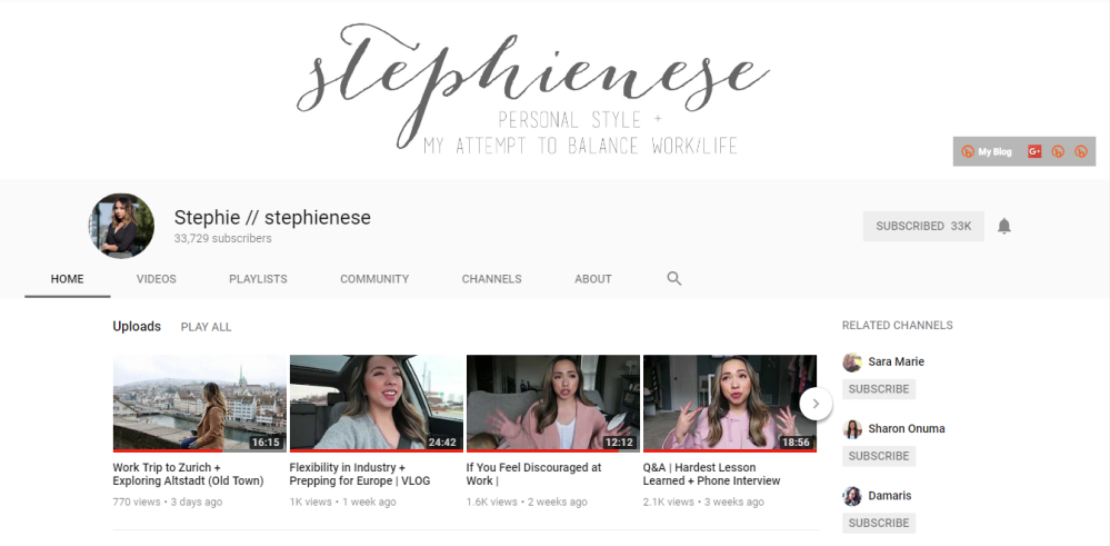 Stephienese youtube